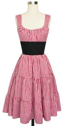 Trashy Diva Norma Jean Dress in red gingham