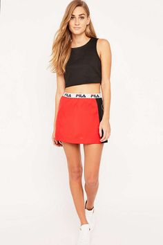 Fila Veneto Red Mini Skirt - Urban Outfitters
