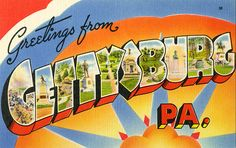 Greetings from Gettysburg, Pennsylvania - Large Letter Postcard by Shook Photos, via Flickr