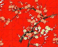Golden Garden Red Oriental Cotton Fabric by Alexander Henry x 1/2 Metre + | eBay