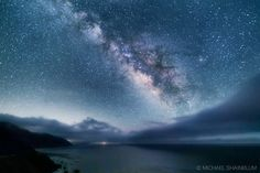 """Pacific Milky Way"" Image Credit : Michael Shainblum Photography/Film/Timelapse The Milky Way shining bright over the Pacific Ocean. This shot was taken at the southern edge of the Big Sur Coastline.  EXIF: 30 SEC F/2.8 ISO3200 Canon 5D3, Sigma 20mm"