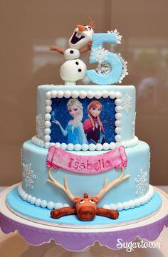 Frozen met eetbare print. Kijk op www.bouwhuis.com voor eetbaar printen