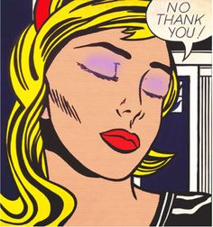 After Roy Lichtenstein 'No Thank You!' (1964) #12jpg  #The_Painting_coming_out_of_the_Printer. #digital_dada #kunst