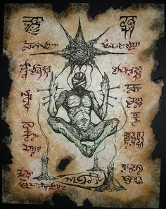 cthulhu larp Necronomicon Fragment DARK SORCERY