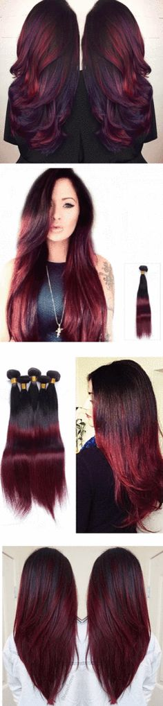 Long Two-tone Red wig