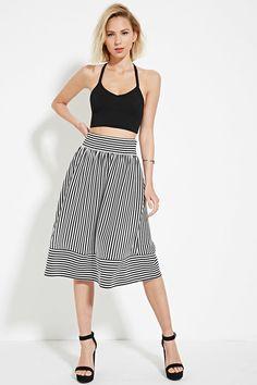 Stripe Pleated Skirt - Skirts - 2000187379 - Forever 21 EU English