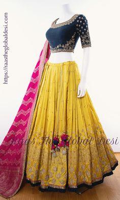 Shop Chaniya choli - handmade chaniya choli , ghaghra choli at afordable price Party Wear Indian Dresses, Indian Fashion Dresses, Indian Bridal Outfits, Indian Gowns Dresses, Party Wear Lehenga, Dress Indian Style, Indian Designer Outfits, Indian Wear, Fashion Outfits