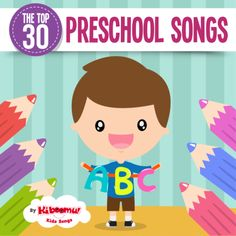 The perfect song collection for the preschool classroom.  Packed with circle time songs, classroom management songs and nursery rhymes.  #kidsongs