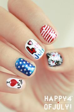 Check out our new Patriotic Nail Art board for cute 4th of July nail designs!!