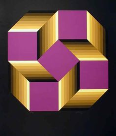 """""""Knot"""" - Victor Vasarely. http://www.artexperiencenyc.com/social_login"""