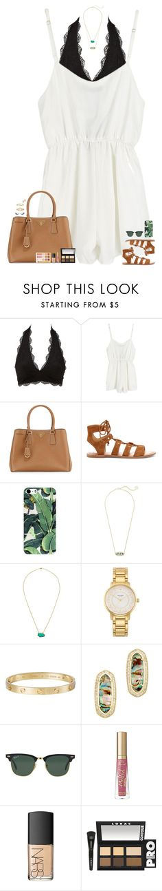 """""""major trust issues."""" by maggie-prep ❤ liked on Polyvore featuring Charlotte Russe, Prada, Dolce Vita, Kendra Scott, One OAK by Sara, Kate Spade, Cartier, Ray-Ban, NARS Cosmetics and LORAC"""