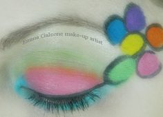 Make-up occhi ispirato ai dipinti espressionisti floreali  Eye make-up inspired by floral expressionist paintings