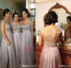Lace Bridesmaid Dresses Long http://www.lanlanbridals.com/lace-bridesmaid-dresses-long/