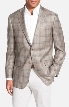 Hart+Schaffner+Marx+'New+York'+Classic+Fit+Plaid+Wool+Sport+Coat+available+at+#Nordstrom