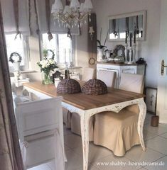 Shabby Home Dreams Shabby Home, Shabby Chic Kitchen, Shabby Chic Cottage, Vintage Shabby Chic, Shabby Chic Homes, Shabby Chic Style, Shabby Chic Decor, Sweet Home, French Decor
