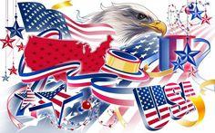 eagle usa american colorsneverrun colors never run flag Canvas Wall Poster