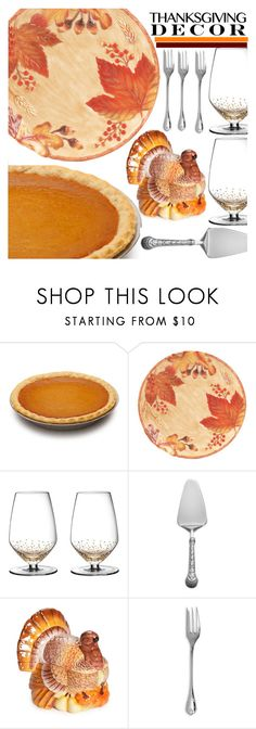 """""""Set The Table. . .for a feast"""" by neon-moom ❤ liked on Polyvore featuring interior, interiors, interior design, home, home decor, interior decorating, Fitz & Floyd, American Atelier, Wallace and Christofle"""