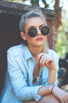 Round and big sunnies :) Find more roundies at http://www.smartbuyglasses.com/designer-sunglasses/general/-Women-Round---------------------