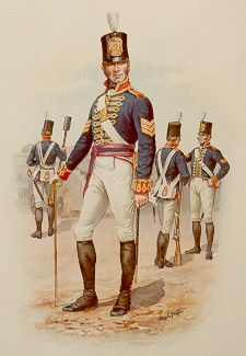 SOLDIERS- Stadden: NAP- Britain: Sergeant, Royal Artillery, 1812, by Charles Stadden.