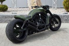 "No-Limit-Custom ""War"" V-Rod - Harley Davidson - Motorrad Bobber Motorcycle, Moto Bike, Cool Motorcycles, Motorcycle Style, Women Motorcycle, Vintage Motorcycles, Harley Davidson V Rod, Harley Davidson Motorcycles, Custom Street Bikes"