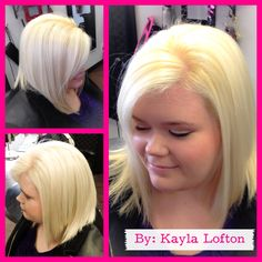 """Getting ready for the spring with this gorgeous """"Marilyn"""" inspiring blonde. :)  www.averybellahairstudio.com"""