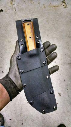 The Butcher with Kydex Sheath #OldSchoolKnives #Bushcraft #knifeporn #Kydex #knives #customknives #survivalist #prepper