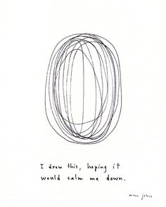 PROJECT LIFE CARD IDEA - I drew this hoping it would calm me down - Marc Johns
