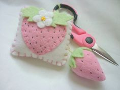Strawberry Pincushion Felt Scissor