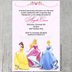 princess baby showers on pinterest baby shower invitations baby
