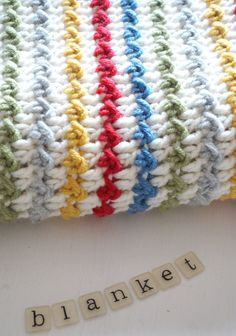 Winifred Baby Blanket Crochet Pattern Instant Download PDF Textured Striped Colourful, Soft
