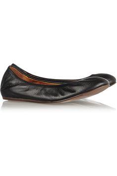 Lanvin - Leather Ballet Flats - Black - IT40.5
