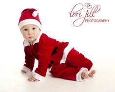 Christmas Photography. baby santa Clause, portrait art created by Lori Jill. Studio photography sessions available www.LoriJill.me