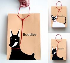 Packaging design Ideas Bored Panda, 30 Of The Most Creative Shopping Bag Designs Ever Packaging Shopping Bag Design, Paper Shopping Bag, Cool Packaging, Packaging Design, Packaging Ideas, Paper Bag Design, Sacs Design, Creative Bag, Dog Shop