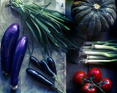 A selection of Asian vegetables including purple aubergines and Asian pumpkin. Asian Vegetables, Dublin, Eggplant, Food Photography, Vibrant, Pumpkin, Dishes, Purple, Squash