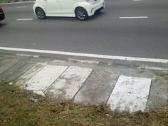 Another view of the patched up area.. JOB WELL DONE by the MPPP !!