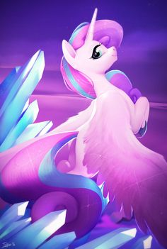 I think she look like Flurry Heart! Cute!