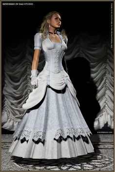 I see it as Steampunk royalty or a beautiful couture wedding dress.  Wonderfully detailed, constructed and beautifully executed.