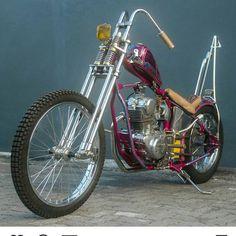 Vintage Motorcycles Classic His Bike.the miles - Ducati, Honda Bobber, Bobber Bikes, Harley Bobber, Harley Bikes, Triumph Motorcycles, Cool Motorcycles, Vintage Motorcycles, Chopper Motorcycle
