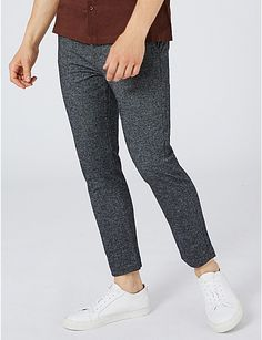 TOPMAN Textured skinny-fit stretch-cotton chinos