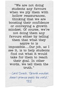 Carol Dweck Makes Strongest Statement Yet On Growth Mindset Misuse | Larry Ferlazzo's Websites of the Day…