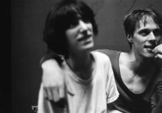 TOM VERLAINE/TELEVISION & PATTI SMITH  Backstage, CBGBs or Max's Kansas City, NYC, 1975.