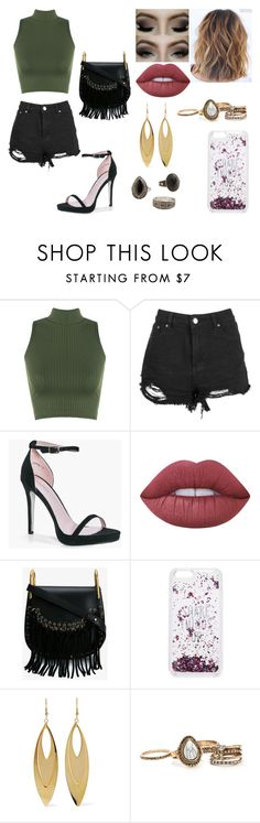 """""""Untitled #258"""" by kora-muffin on Polyvore featuring WearAll, Boohoo, Lime Crime, Chloé, Kate Spade, Kenneth Jay Lane and MANGO"""