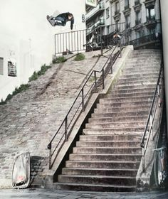 The Vans Europe homie, Sam Partaix, always skates the best spots…   Here's Sam new take on a Paris classic from Sugar Skate Mag.  Photo: Vins Coupeau