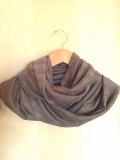 Soft light brown knit infinity scarf by MsFiggys on Etsy, $20.00