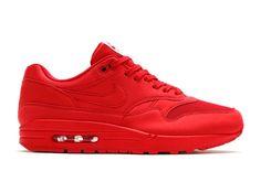 NIKE AIR MAX 1 PREMIUM 875844-600 UNIVERSITY RED TONAL PACK #Nike #AthleticSneakers