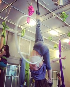 """204 Likes, 10 Comments - Brenna Bradbury (@bcbaby8585) on Instagram: """"Teaching this @bonevortex inspired sequence at The Muse today in Intermediate Lyra! Classes are ON…"""""""