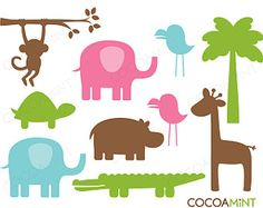 What a Zoo Clip Art by cocoamint on Etsy