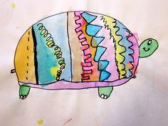 Kindergarten art lines