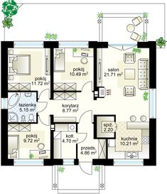 Mini projekt - Партнёр 89.53 m²