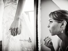 Bride getting ready for her wedding at The Sutherland - Hilary Mercer Photography